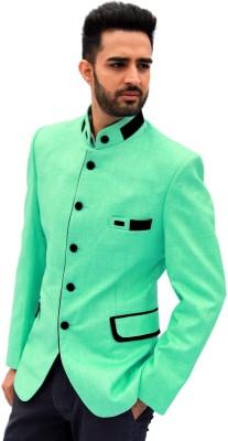 Men In Class Self Design Mandarin Wedding Men's Blazer