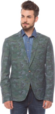 Shuffle Printed Single Breasted Casual Men,s Blazer