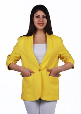 Lady Stark Solid Single Breasted Casual Women's Blazer