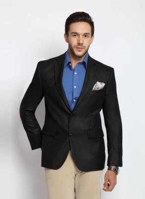 SUITLTD Solid Single Breasted Formal Men's Blazer