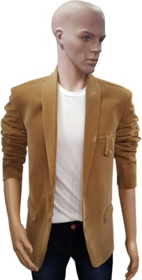 Mahesh Suitwala Solid Tuxedo Style Casual Men's Blazer