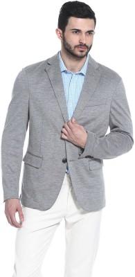 Basics Solid Tuxedo Style Casual Men's Blazer