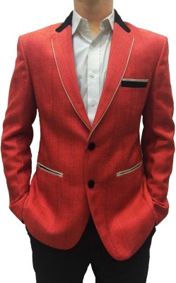 Indian Heritage Solid Single Breasted Casual Men's Blazer