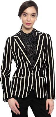 Van Heusen Striped Single Breasted Formal Women's Blazer
