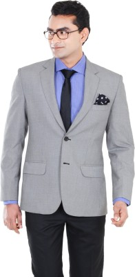 Hangrr Checkered Single Breasted Formal Men's Blazer