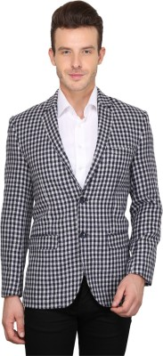 Envoy Checkered Single Breasted Casual Men's Blazer