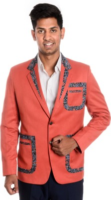 Idlindia Solid, Applique Single Breasted Lounge Wear, Party Men's Blazer