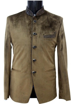KM-NX Solid Double Breasted Casual Men's Blazer