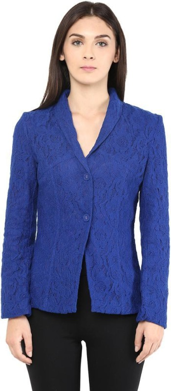 The Vanca Solid Single Breasted Formal Women's Blazer(Blue)