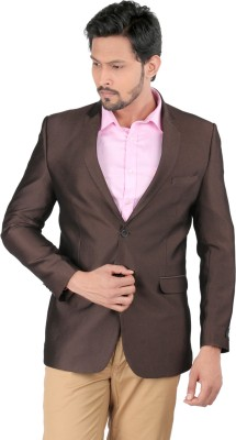 Oxemberg Solid Single Breasted Formal Men's Blazer