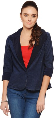Albely Solid Single Breasted Casual Women's Blazer