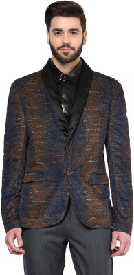 Yepme Solid Single Breasted Party Men's Blazer