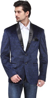 Canary London Solid Tuxedo Style Casual Men's Blazer