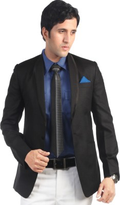 Hangrr Solid Single Breasted Casual Men's Blazer