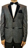 Indian Heritage Solid Tuxedo Style Casua...