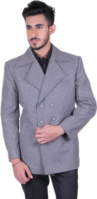 Protext Solid Double Breasted Casual, Festive, Formal, Lounge Wear, Party, Sports, Wedding Men's Blazer