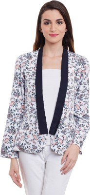 Purys Printed Single Breasted Casual Women's Blazer