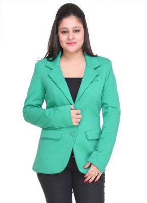 Trufit Solid Single Breasted Casual Women,s Blazer