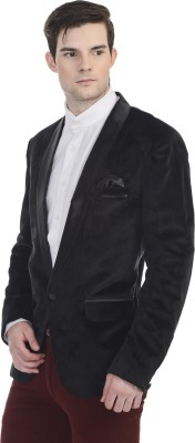 Guava Solid Single Breasted Party Men's Blazer