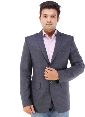 Maveric Checkered Single Breasted Formal Men's Blazer