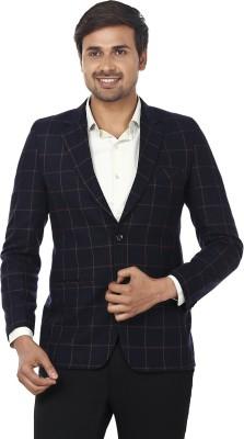 Essentiele Checkered Single Breasted Casual Men's Blazer