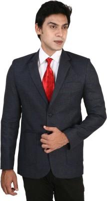 Bellavita Checkered Single Breasted Formal Men's Blazer