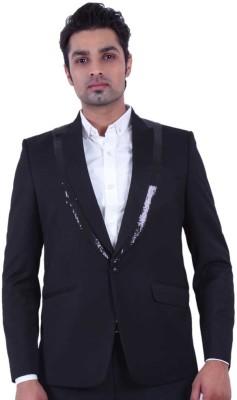 Dresscode Self Design Single Breasted Casual, Wedding, Party Men's Blazer
