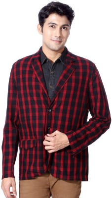 People Checkered Tuxedo Style Casual Men's Blazer