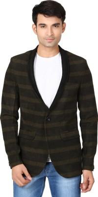 Essentiele Striped Tuxedo Style Casual Men's Blazer