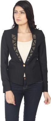 Eighteen4ever Solid Single Breasted Lounge Wear Women's Blazer