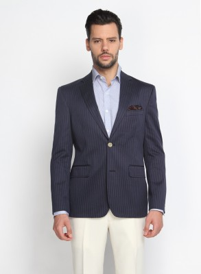 Suit Ltd Striped Single Breasted Formal Men's Blazer