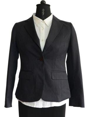 Jupi Striped Single Breasted Formal Women's Blazer