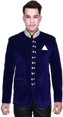 Alark The Ethnic Self Design Single Breasted Party Men's Blazer