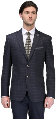 Canary London Checkered Single Breasted Casual Men's Blazer