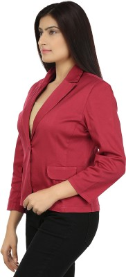 Eves Pret A Porter Solid Single Breasted Casual Women's Blazer