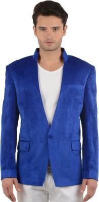 Azio Design Solid Single Breasted Party Men's Blazer
