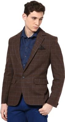 Okane Checkered Casual Men's Blazer