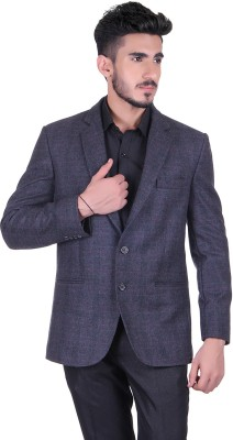 Protext Checkered Single Breasted Casual, Festive, Formal, Lounge Wear, Party, Sports, Wedding Men's Blazer