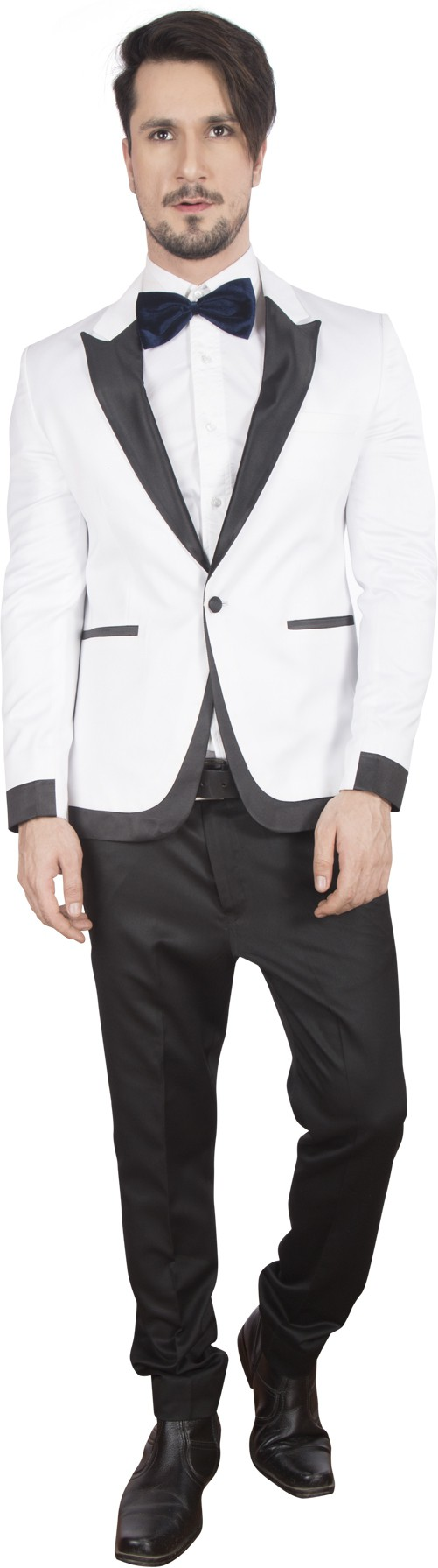 DheerajSharma Solid Tuxedo Style Formal Men's Blazer