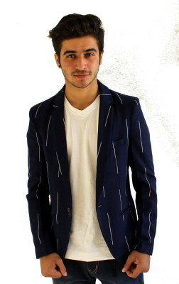Loto Striped Single Breasted Casual, Party, Wedding, Festive Men's Blazer
