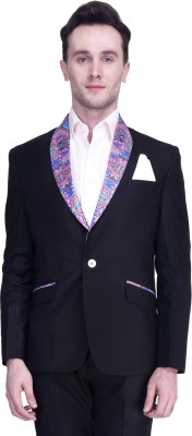 Protext Premium Solid Tuxedo Style Casual, Party, Formal, Festive, Wedding, Sports Men's Blazer