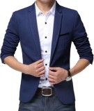 Beetle Solid Single Breasted Casual Men'...