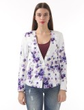 Vero Moda Floral Print Single Breasted C...