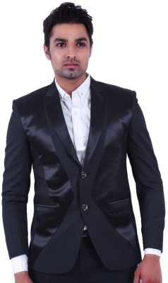 Dresscode Solid Single Breasted Casual, Wedding, Party Men's Blazer