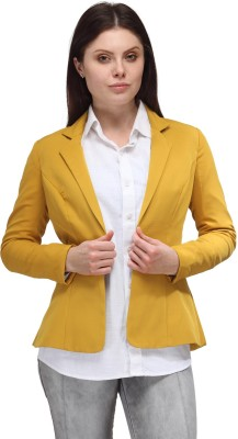 A Click Away Solid Single Breasted Casual Women's Blazer