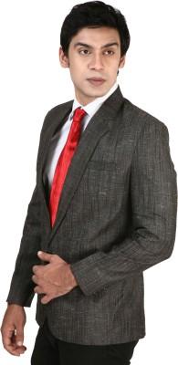 Bellavita Self Design Single Breasted Formal Men's Blazer