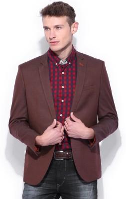 Harvard Solid Single Breasted Casual Men's Blazer