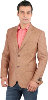 Jhampstead Solid Single Breasted Formal Men's Blazer