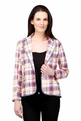 Sierra Checkered Single Breasted Casual Women's Blazer