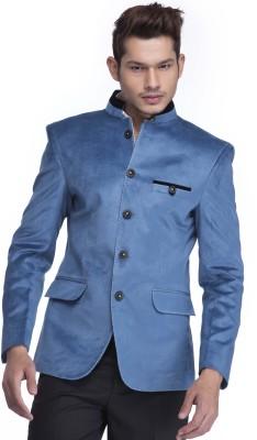Platinum Studio Solid Mandarin Casual Men,s Blazer